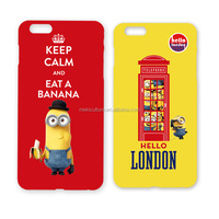 wholesale minion leather cell phone case with licensing agreement