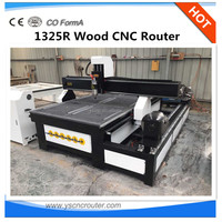 factory supply wood turning lathe with pneumatic tool changer 1325 cheap wood cnc machine with rotary axis for leg