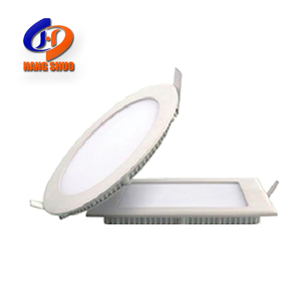 China Factory Commercial Solution 3W 6W 9W 12W 15W 18W 24W Cheap Slim Round Square Led Flat Ceiling Panel Down Light For Home