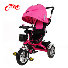 wholesale baby trike 4 in1 /high quality 3 wheels tricycle for little children / 2017 new fashion children ride on car trike