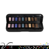 wholesale naked makeup 10 colors eyeshadow palette with private label, glitter eyeshadow