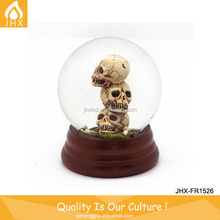 Halloween Decoration Skull Water Globe Statue Figurine