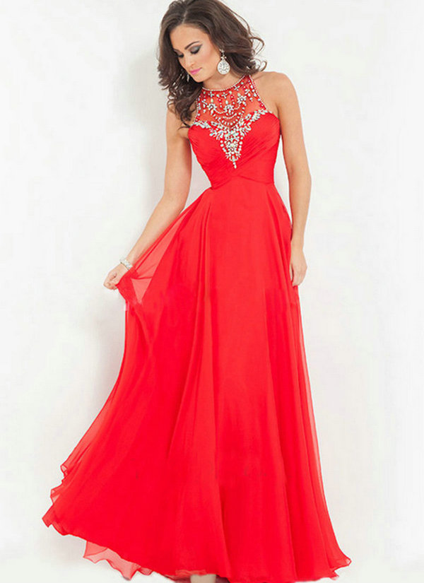 High Neck Homecoming Dresses 2015