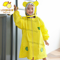 High quality pvc yellow rain coat poncho with sleeves