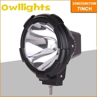 Best selling HID headlight 4x4 offroad 7inch hid driving light 35w/55w75w SPOT BEAM HID work light for vehicles ATV SUV