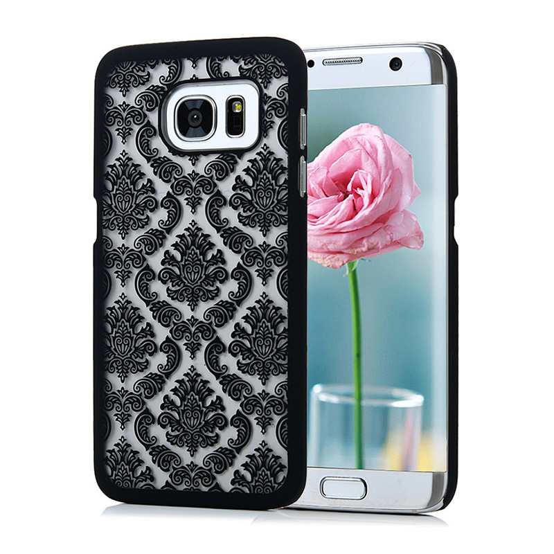 For Samsung Galaxy S3 S4 S5 S6 S7 S7 Edge Note 3 4 5 A3 5 7 8 J5 J7 G530 A310 A510 A710 G530 Vintage Damask Flower Cover Cases