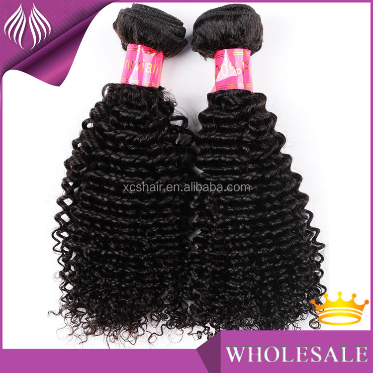 no tangel good quality 7A tight curly peruvian kinky curly hair