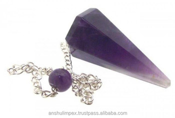 Amethyst Faceted Pendulum for metaphysical healing