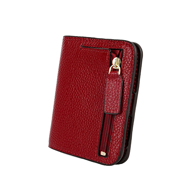 Women's Blocking Small Compact Bi-fold Leather Pocket <strong>Wallet</strong>