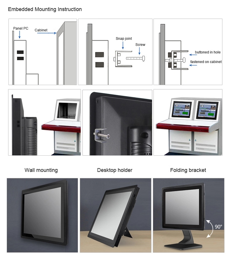 Fanless 10.1 inch widescreen all-in-one industrial touch panel PC