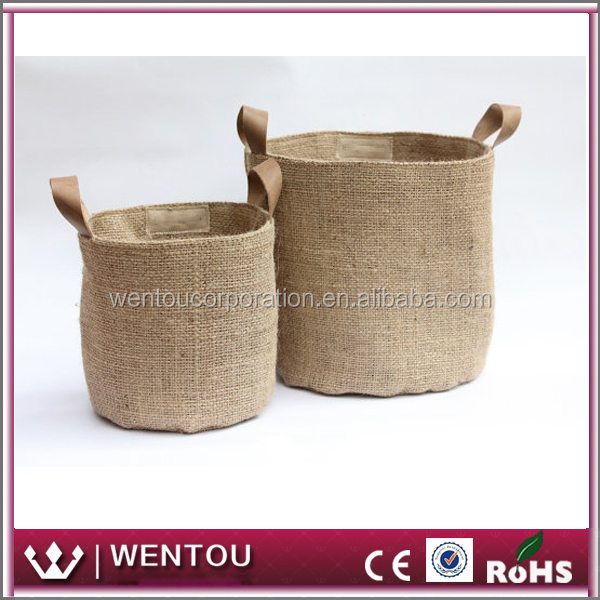 Wholesale Eco Friendly Home Storage Burlap Basket