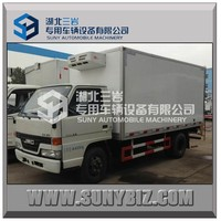 4x2 IVECO yuejin fish and meat refrigerated van box trucks vehicle for sale