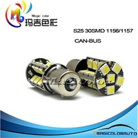 High Lumen 30-5050 SMD S25 1156/1157 Canbus Error Free Car Turn Signal Light LED Brake Light