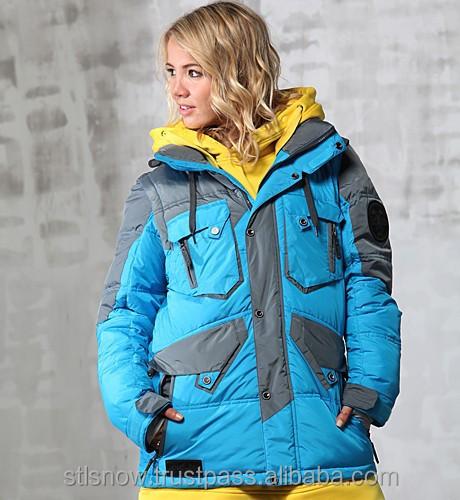 2014/2015 High quality Unisex warm Ski Snowboard jacket, Jazz Jacket NeonBlue/DarkGray