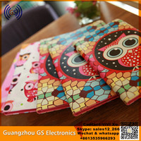 Customized 7 Inch Flip PU Leather Case For Lenovo A3500 Tablet Case