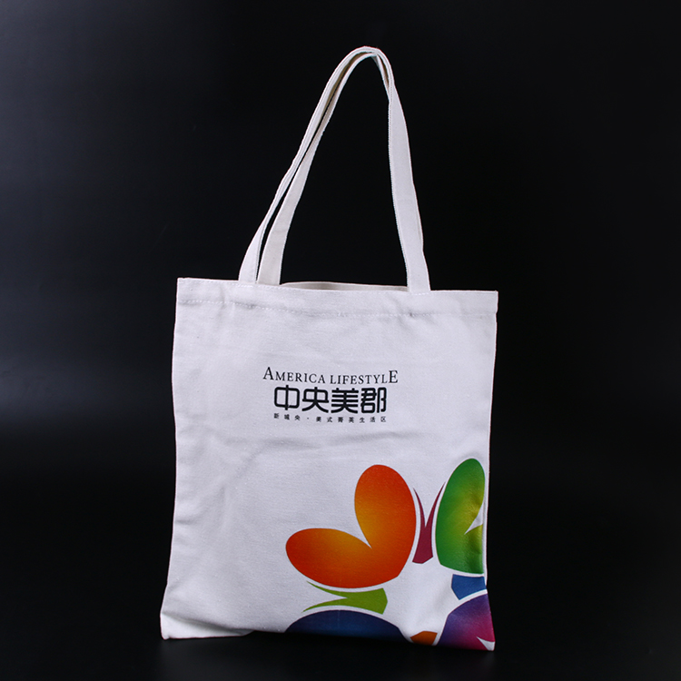 wholesale promotion cotton material tote bag for shopping