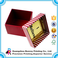 Small size custom design gold paper coated gift box
