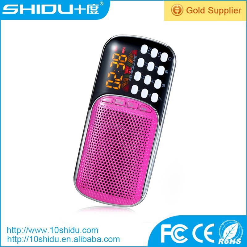 Hot sale Multimedia display portable mini digital speaker with FM radio