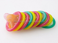 customized sexy funny pink, yellow, black colour condom
