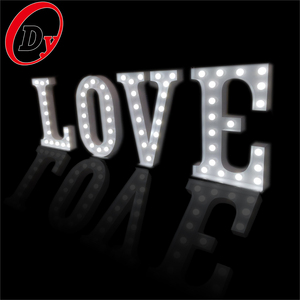 Custom made decorative vintage bulb light large letters sign wedding marquee light up giant love letters for outdoor