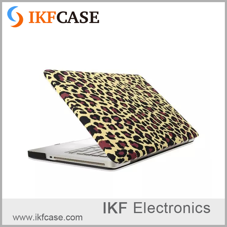 New arrival customize design pattern yellow leopard grain shockproof laptop covers for Macbook Pro 15.4