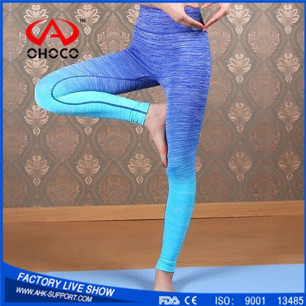 2017 Top selling products about colorful women wholesale yoga pants