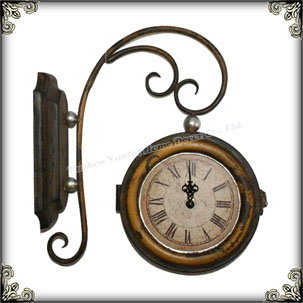 Vintage double side MDF decorative wall clock,wall clocks