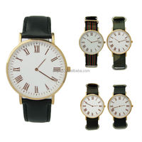 Stainless steel interchangeable genuine leather quartz image watch price