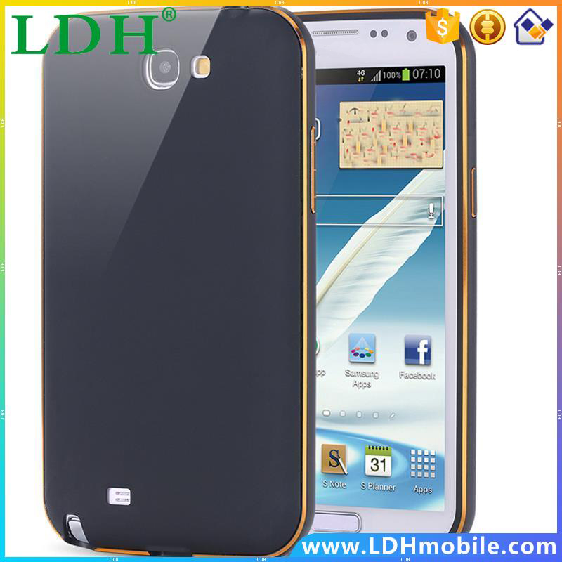 Note 2 Capa Ultra Thin Dual Hybrid Aluminum Metal Frame Case For Samsung Galaxy Note 2 II N7100 Phone Cover Shockproof Shell