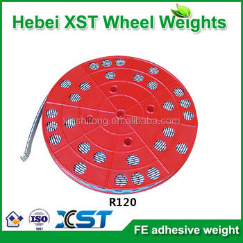 Fe adhesive wheel weight roll packing