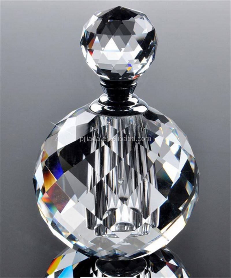New product simple design decorative crystal perfume bottles for wholesale
