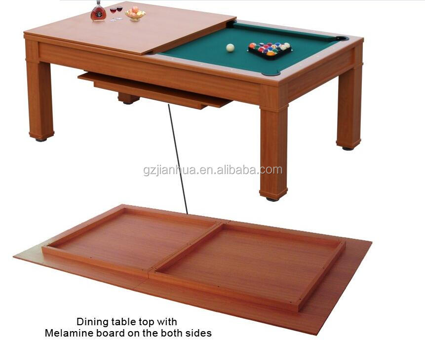 Modern Style Wooden Billiard Dining Pool Table 7ft Pool Table Dinner Table  Combo