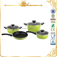 MSF-6341 7pcs global metals cookware household cooking pots aluminum ceramic cookware sets