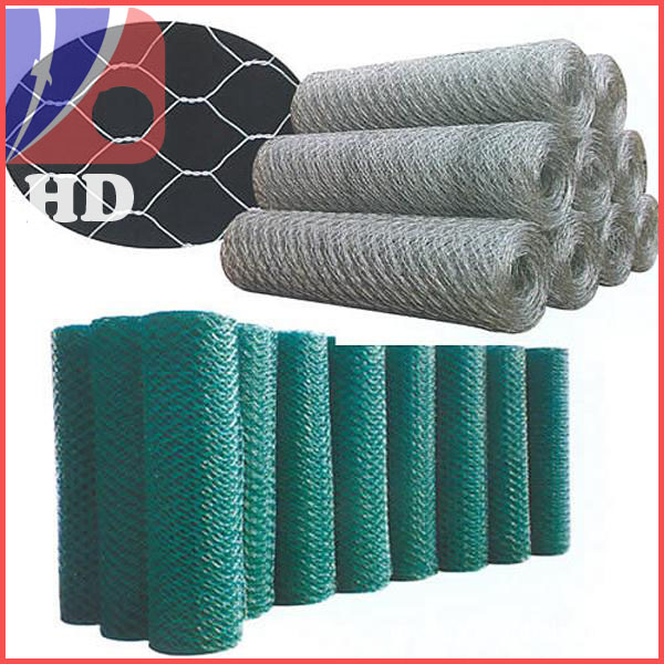 pvc coated/galvanized hexagonal wire mesh