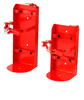 USA type FIRE EXTINGUISHER RED STEEL heavy duty VEHICLE BRACKETS