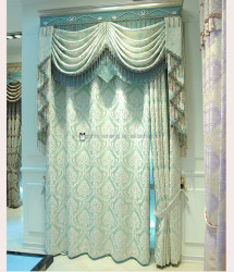 fashion 100% polyester Embroidery European style window curtain