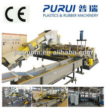 Recycled plastic pelletizing line