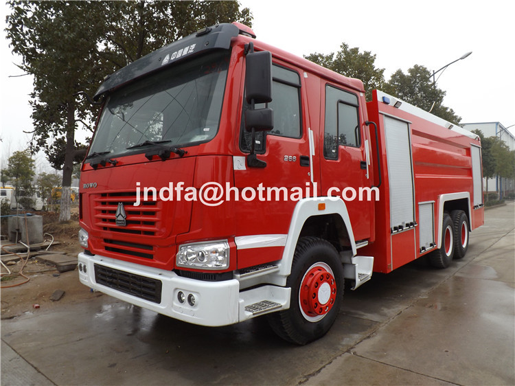 howo 6X4 heavy duty water foam fire fighting tank truck 15000L JDF5280GXFPM120Z