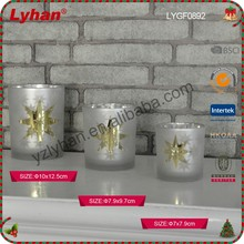 for wedding occasion glass tea light candle holder with star from Chinese factory