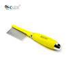 Stainless steel pet comb for dog with silicone handle