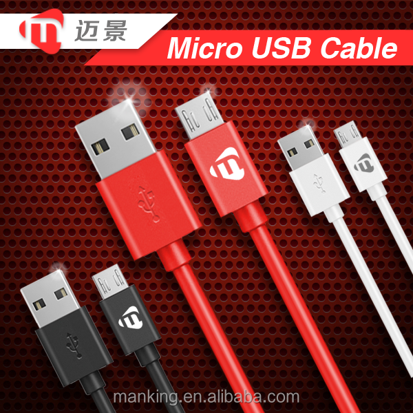 Best Quality Colorful Micro USB Cable 2.0 Connector For Cell Phone Charger And Data Transfer
