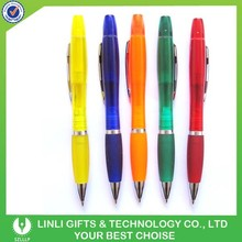 Customized Logo Plastic Ballpen With Highlighter
