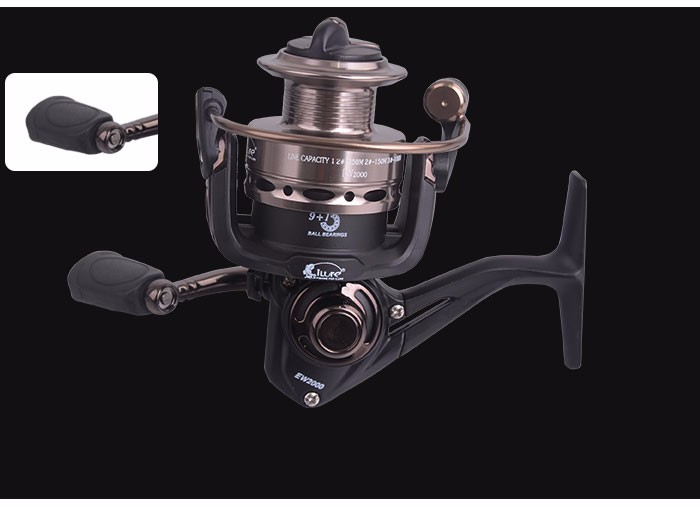 China Wholesale 9+1BB 5.2:1 Gear ratio spinning reels saltwater spinning Fishing reel