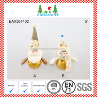 Gold christmas bell decoration