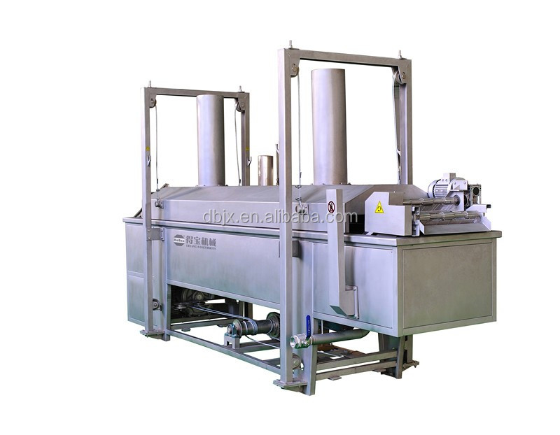 Industrial Automatic Falafel Potato Chips Continuous Belt Fryer
