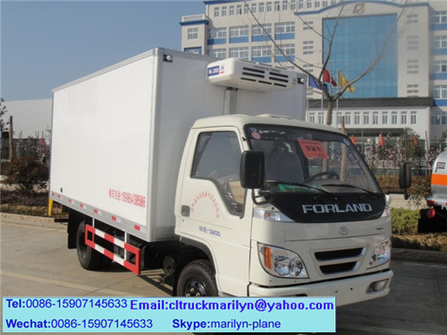 3 tons foton refrigerated truck frozen food refrigerator truck foton mini refrigerated van trucks