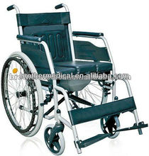 Manual commode wheelchair with pulling commode cushion