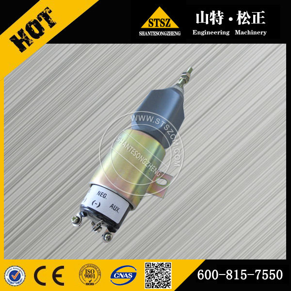 Wholesale price of the hydraulic excavator engine S6D102E-1F engine part on PC228UU-1-TN of solenoid assembly 600-815-7550