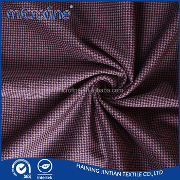 Cut velvet houndstooth tweed fabric for women fashion