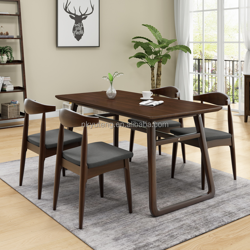 Best selling wooden dining table and chair simple modern family dining table set